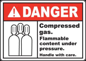 Danger pressure sign